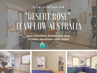 La cornice EL706 per il progetto Desert Rose al Solar Decathlon 2018 Middle East a Dubai: Soggiorno in stile  di Eleni Lighting