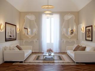 Cassico Contemporaneo Soggiorno moderno di marco tassiello architetto Moderno