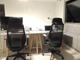 Home Office + Sala de Estar y Ensayos :  de estilo industrial por Kaa Interior | Arquitectura de Interior | Santiago, Industrial