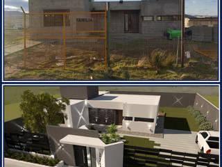 FACHADA F|I Casas modernas: Ideas, imágenes y decoración de Group Arquitectura Online Moderno