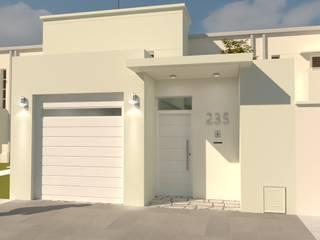 FACHADA L|A Casas modernas: Ideas, imágenes y decoración de Group Arquitectura Online Moderno
