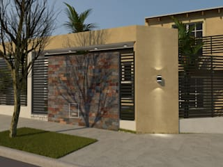 FACHADA V|C Casas modernas: Ideas, imágenes y decoración de Group Arquitectura Online Moderno