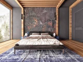 RIZVANOĞLU MİMARLİK MÜHENDİSLİK İNŞAAT A.Ş Minimalist bedroom
