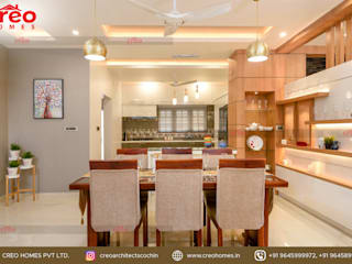 Interior Designers In Kochi Asian style dining room by CreoHomes Pvt Ltd Asian