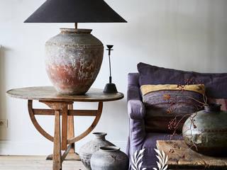 Fresco kalkverf in de kleur Bone:  Woonkamer door Pure & Original