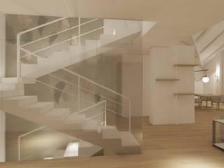 Villa sul lago, Bodio Lomnago (VA) Ingresso, Corridoio & Scale in stile moderno di Silvana Barbato Moderno