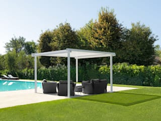 GAZEBO TUBE:  in stile industriale di Cagis , Industrial
