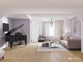 Классика с роялем: Гостиная в . Автор – Архитектурная студия 'АВТОР'