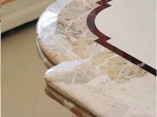Фрагмент столешницы из разного вида мрамора:  в . Автор – G-Stone