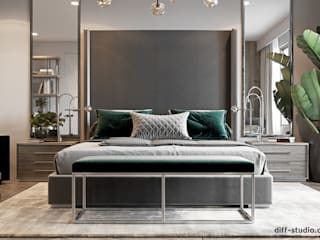Eclectic style bedroom by Diff.Studio Eclectic