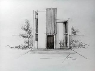 Casa AF - CDMX: Casas unifamiliares de estilo  por ARTURO ARIAS ARQUITECTOS