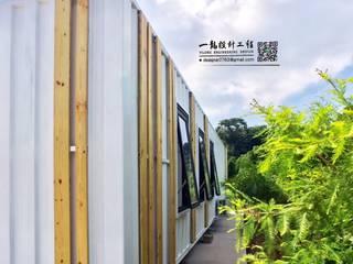 40呎 HQ 寵物套房訂製:  房子 by 一龍貨櫃宅設計工程(貨櫃屋)
