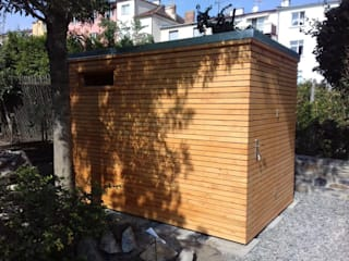 Nowoczesny domek ogrodowy od Geisser Sp z o.o. Nowoczesny