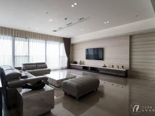 客廳:  牆面 by 元作空間設計