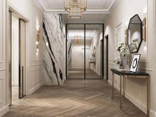 Classic corridor, hallway & stairs by GLAZOV design group концептуальная студия дизайна интерьеров Classic