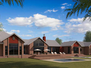 Residential Design Blue Saddle Ranches:  Country house by Red Square Architectural Studio, Country