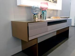 Lounge for the office of a prestigious brand in New York (USA) Studio moderno di DF Francia Moderno