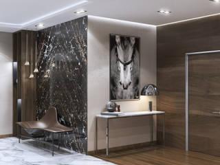Mediterranean corridor, hallway & stairs by GLAZOV design group концептуальная студия дизайна интерьеров Mediterranean