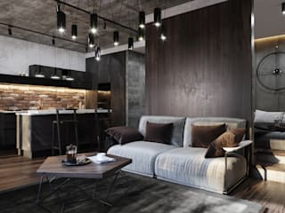 Livings de estilo industrial de GLAZOV design group концептуальная студия дизайна интерьеров Industrial