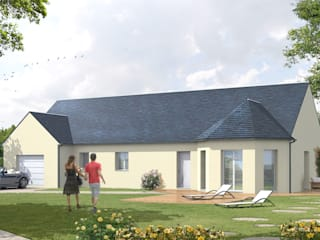 Illustration 3D pour les maisons individuelles traditionnelles par Bureau des Perspectives 3D