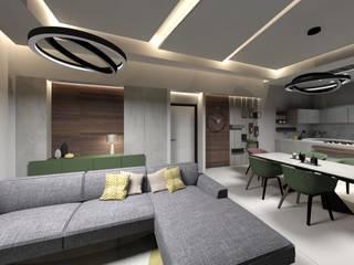 PROGETTO DI INTERIOR DESIGN: Sala da pranzo in stile  di Ama Studio Design, Moderno
