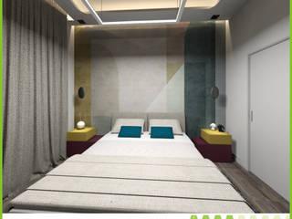 PROGETTO DI INTERIOR DESIGN: Camera da letto in stile  di Ama Studio Design, Moderno