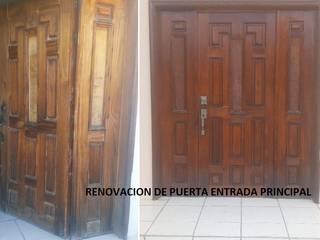RENOVACIÓN PUERTA DE MADERA ENTRADA PRINCIPAL:  de estilo  por SERVICIOS CALO