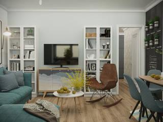 스칸디나비아 거실 by 3D GROUP 북유럽