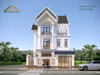 Mẫu thiết kế biệt thự tân cổ điển 3 tầng chỉ với 2 tỉ đồng bởi Công ty CP kiến trúc và xây dựng Eco Home