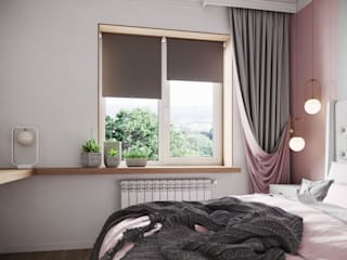 Pink&Grey Спальня в стиле модерн от Givetto Casa Модерн