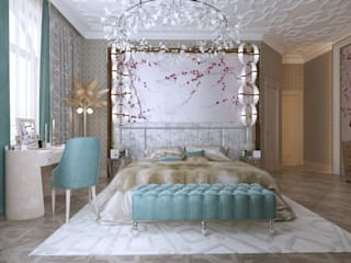 Eclectic style bedroom by Архитектурная мастерская Бориса Коломейченко Eclectic