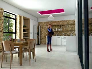 Casa Escondida Cocinas mediterráneas de Vintark arquitectura Mediterráneo