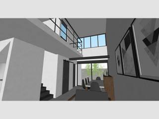 Casa ST-1 Salones minimalistas de Ipsum Nova Minimalista