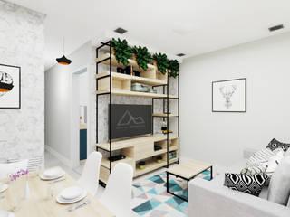 Salas modernas de Aline Mozzer Arquitetura Moderno