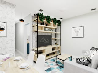 Modern Oturma Odası Aline Mozzer Arquitetura Modern