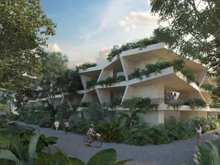 Mistiq Tulum: Balcón de estilo  por Studio Uno Arquitectura