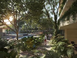 Jardines Mistiq por Studio Uno Arquitectura: Jardines de estilo  por Studio Uno Arquitectura