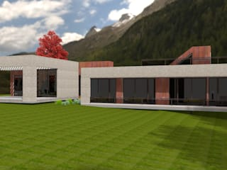 Casa Plana: Casas de estilo  por ARQvision BIM Sustainable Architecture