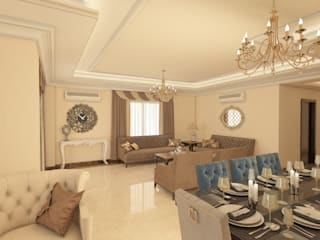 Living room by Raqy Designers & contractors, Modern