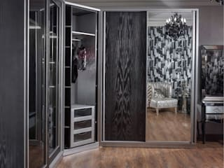 Ultra modern luxury bedroom  Never be scared of black: الآسيوية  تنفيذ NADIA .Gallery, أسيوي