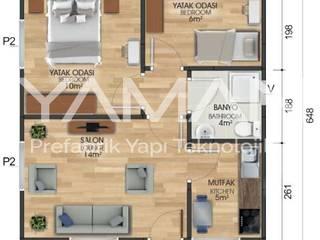Prefabrik Ev (Yaman Prefabrik) – 45 m2 Prefabrik Ev:  tarz