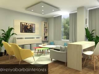 Diseño Residencial: Salas / recibidores de estilo  por Irenya Barba - Diseño de Interiores,
