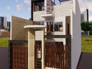 Vivienda bifamiliar GC: Casas pequeñas de estilo  por ROQA.7 ARQUITECTURA Y PAISAJE, Moderno
