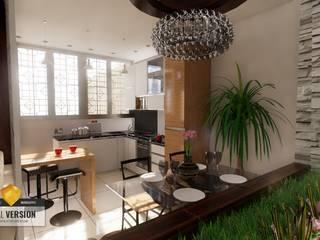 Vivienda bifamiliar GC: Comedores de estilo  por ROQA.7 ARQUITECTURA Y PAISAJE, Moderno