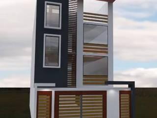 Vivienda GA: Casas multifamiliares de estilo  por ROQA.7 ARQUITECTURA Y PAISAJE, Moderno