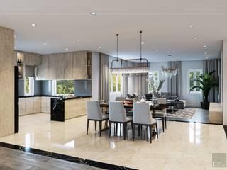 Hơi thở hiện đại cho Thiết kế nội thất Villa sành điệu hơn - ICON INTERIOR:  Phòng ăn by ICON INTERIOR