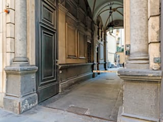 Vivere lo Stile Pasillos, vestíbulos y escaleras de estilo moderno