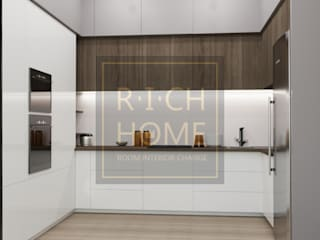 "ЖК ""EXPO PLAZA"", 77 м2. Кухня в стиле минимализм от RICH HOME - дизайн интерьера, декорирование Минимализм"