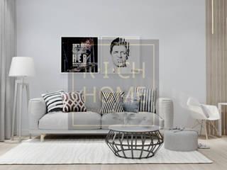"""ЖК """"EXPO PLAZA"""", 77 м2.: Гостиная в . Автор – RICH HOME - дизайн интерьера, декорирование"""