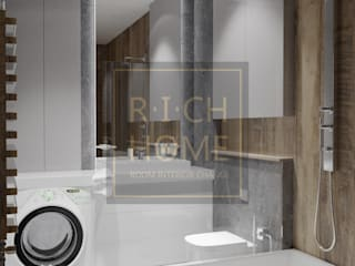 "ЖК ""EXPO PLAZA"", 77 м2. Ванная комната в стиле минимализм от RICH HOME - дизайн интерьера, декорирование Минимализм"